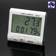 LCD Digital Indoor Weather Thermometer Hygrometer Humidity Timer Clock ETHER1020