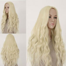Blonde Curly Women's Hair Full Wig Wigs Long Light Heat Resistant Wavy Cosplay