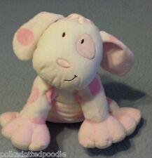 "Kids Preferred Pink & White Asthma Friendly Puppy Dog stuffed animal plush 11"" L"