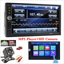 "Tactile 7"" En Dash stéréo VOITURE DVD CD Player Bluetooth FM Radio TF/USB 2 DIN + Caméra"