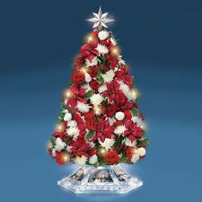 Home For The Holidays Floral Crystal Tree Bradford Exchange - Thomas Kinkade