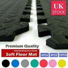 Extra Thick Interlocking Floor Mats Gym Flooring Soft EVA Foam Mat Yoga Tiles UK