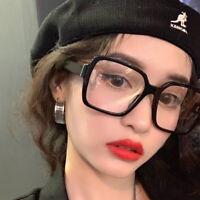 Fashion Over-Sized Nerd Geek Clear Lense Rectangular Retro Glasses Eyewear UK