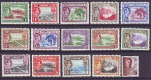 Dominica 1938 SC 97-111 MH Set