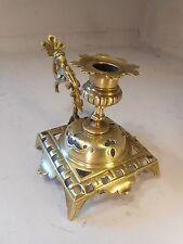 Antique Brass Chamberstick , Candlestick  .  ref 2052