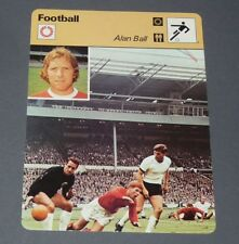 FICHE FOOTBALL 1966 ALAN BALL ENGLAND BLACKPOOL EVERTON ARSENAL ANGLETERRE