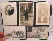 Vtg Early 1900s BW Americana Family Photo Album Page 11 Photos