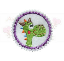 Drache Button Aufbügler Aufnäher Bügelbild Patch Sticker dragon patch dino