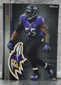 """12 Fathead Terrell Suggs Baltimore Ravens NFL Decal Team Logo 7"""" Tradables 2"""