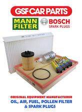 Service Kit Oil Air Fuel Pollen Filters Spark Plugs Vauxhall Corsavan 1.2 16V