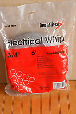 "Diversitech 6-34-6NM 3/4""x 6' Conduit Whip Non-Metallic Pre Wired Pools Hot Tubs"