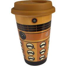Dr Who Dalek Ceramica 15.2cm Viaggio Tazza Con Tappo In Silicone & ufficiale BBC