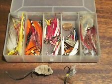 Vintage lures mouse feathers flies fly fishing lot