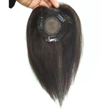 Handmade Mono Straight Virgin Human Hair Topper Clip in Hair Top Piece for Women