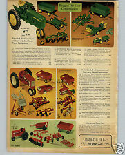 1968 PAPER AD Die Cast Toy John Deere Tractor Farmall Structo Fire House Truck