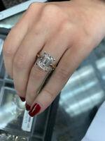 1.35 Carat H/VVS1 Emerald Cut Diamond Engagement Solitaire Ring 14k White Gold
