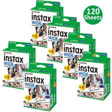 120 Sheets FujiFilm Instax Wide Film Sheets Fuji 100 210 300 Wide Instant Photos
