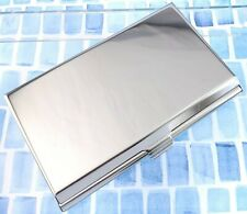 Stainless Steel Engravable Business Card Case With Mirror On The Inside