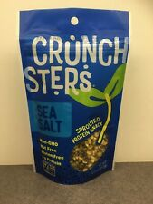 Crunchsters 6 pk of 4 oz Sea salt Sprouted Mung Bean Protein Snack - Exp 2/25/21