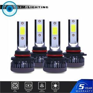 9005+9006 3200W 520000LM Combo LED Headlight High/Low Beam White 6000K 4 Bulbs