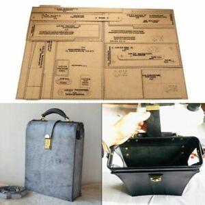 Leathercraft Shoulder Messenger Bag Backpack Sewing Pattern Diy Template Stencil