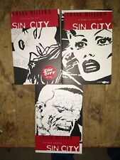 New listing Frank Millers Sin City 1-3 Graphic Novel Comic Tpb Paperback A Dame Kill For 2