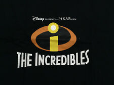 DISNEY PRESENTS A PIXAR FILM MOVIE THE INCREDIBLES LOGO T-SHIRT XL NEW(2 II JACK