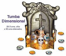 FOLD OUT TABLETOP DECOR 3D TOMB DIA DE MUERTOS  DAY OF THE DEAD        AWESOME!