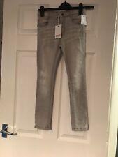 New With Tags Minoti Skinny Grey Denim Jeans Age 7-8