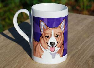 Corgi porcelain single mug