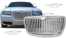 FRONT CHROME GRILL FOR CHRYSLER 300C 04-11 BENTLEY LOOK NO EMBLEM SPOILER NEW
