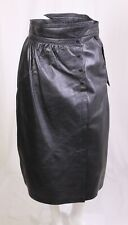 CT50 Midi-Rock Vintage Gr. 40 Leder schwarz wadenlang high waist ungetragen