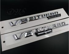 Chrome V8 BITURBO AMG Letters Trunk Emblem Badge for Mercedes Benz