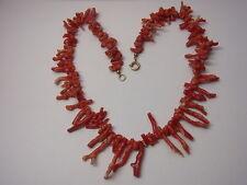 Alt Astkoralle Korallenkette Koralle Coral Necklace Halskette  Kette Nr.103