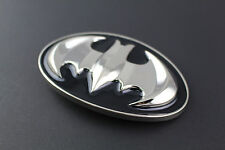 BATMAN BLACK SILVER RETRO METAL BELT BUCKLE DC COMICS MOVIE