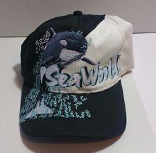 VTG Sea World Orlando Snapback Hat Cap Shamu Wave Splash The Game San Diego