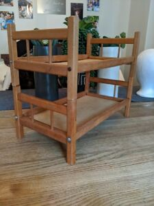 Vintage Wooden Baby Doll Bunk Bed 2 Twin Beds Handmade Name on Bottom