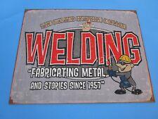 tin metal gasoline service station man cave advertising decor gas oil welding