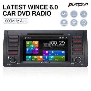 Pumpkin Autoradio GPS Navi Navigation Bluetooth Touchscreen Für 5er BMW E39 E53