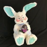 Adorable Large ANNALEE Easter Bunny Rabbit Doll with Chocolate Foil Egg 2004