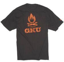 GNU snowboard skateboard surf SURVIVAL TEE-SHIRT mens small BLACK New