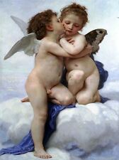 WILLIAM ADOLPHE BOUGUEREAU FIRST KISS OLD MASTER ART PAINTING PRINT 3116OMLV