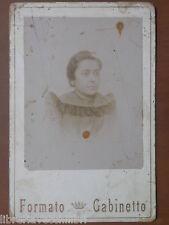 Vecchia foto su cartoncino inizi 900 fotografia antica FORMATO GABINETTO donna 1