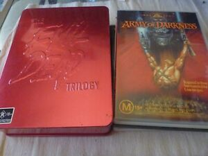The Evil Dead Trilogy - 1 & 2 & Army of Darkness (3x DVD) Region 4 Tin Boxset