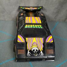 Vintage BANSHEE Halloween Toy Car Friction Power PLAYWELL Plastic Orange Purple