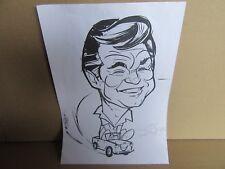 82G Caricature Didier Puget Fils 21X29,7 cm Norev