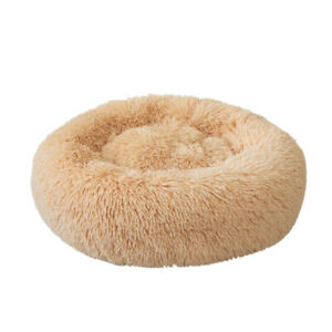 Soft Plush Round Pet Bed Cat Soft Bed Cat Bed for Cats Small Dogs A0S3