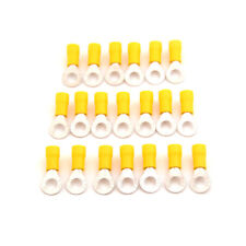 20PCS M6 Ring Insulated Wire Connector Electrical Crimp Terminal 12-10AWG HF