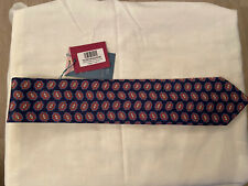 Charles Tyrwhittexclusive range 7 fold navy printed medallion tie