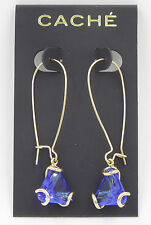Luxurious New Sapphire Crystal Rhinestone Drop Earrings by Cache with Tags #CE2
